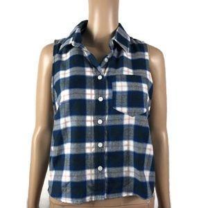 2c0877ec71f6bc wild fable Tops | New Wild Flannel Shirt Button Sleeveless M Xxl ...